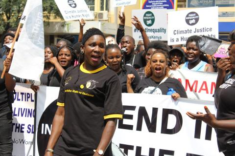Demonstrators in Kenya join the Global Protest to Fight Inequality.