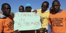Botswana mining diamonds healthcare human rights socioeconomic